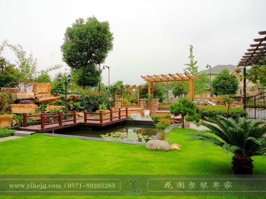 九龙山庄丰泽苑|别墅花园景观设计施工|庭院假山水溪景观|锦鲤池过滤系统