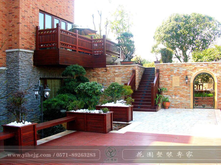 高尔夫高端别墅花园景观设计 小花园景观设计 别墅花园景观绿化施工