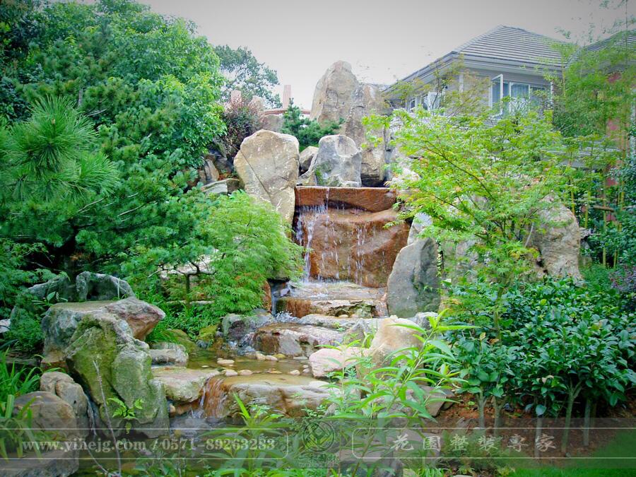 桂花城庭院假山景观施工|私家庭院花园景观绿化|别墅花园景观设计