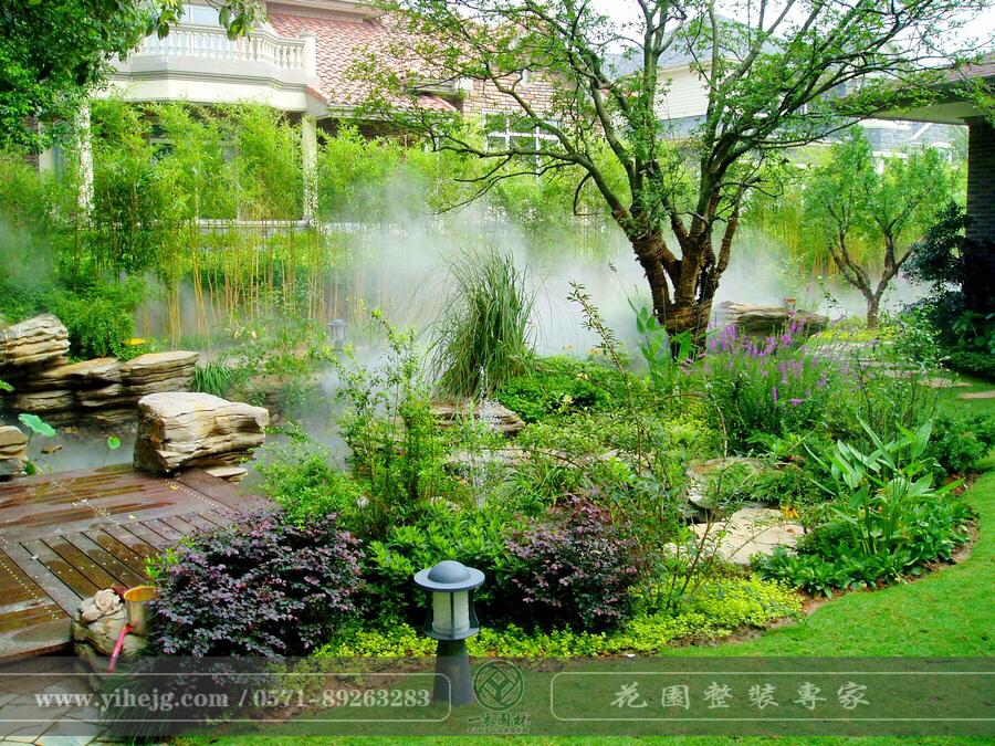 九月深林假山水溪设计|私家别墅花园景观绿化|庭院花园景观设计施工