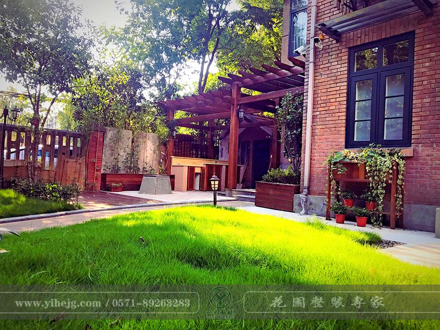 杭州浙大校区某庭院景观改造|私家小庭院景观绿化设计