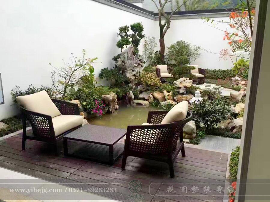 中式庭院景观设计|中式别墅花园景观设计|私家别墅庭院花园景观绿化