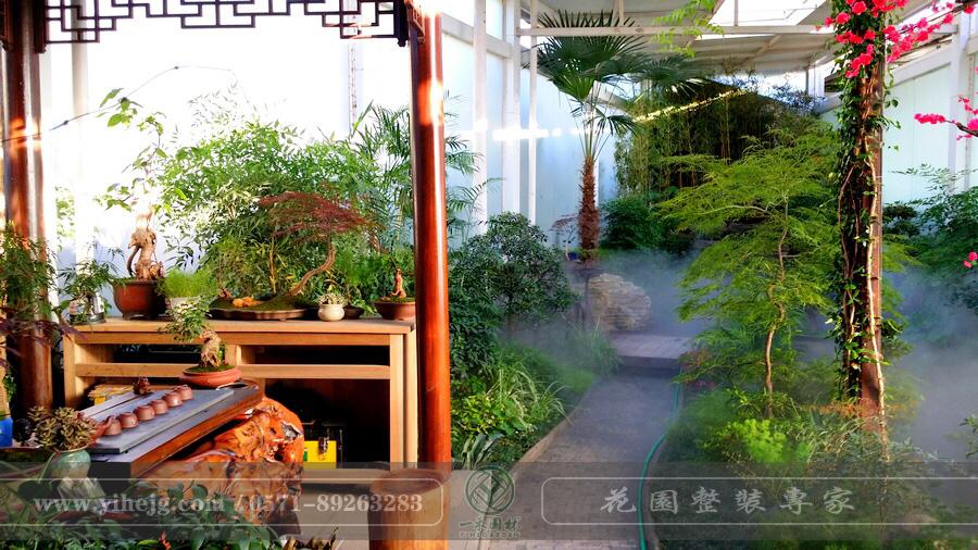 杭州西溪花市阳光房景观绿化设计|私家小庭院景观设计