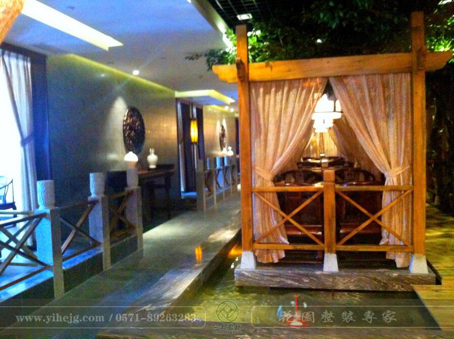 鸾江餐饮娱乐花园景观设计|生态园餐厅景观设计|生态餐厅花园景观绿化