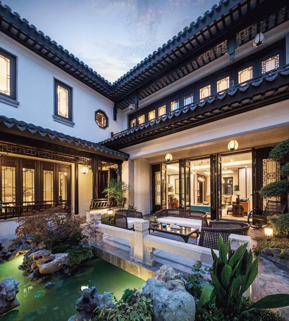 中式庭院的最美之处-小桥 流水 阁楼 凉亭.............