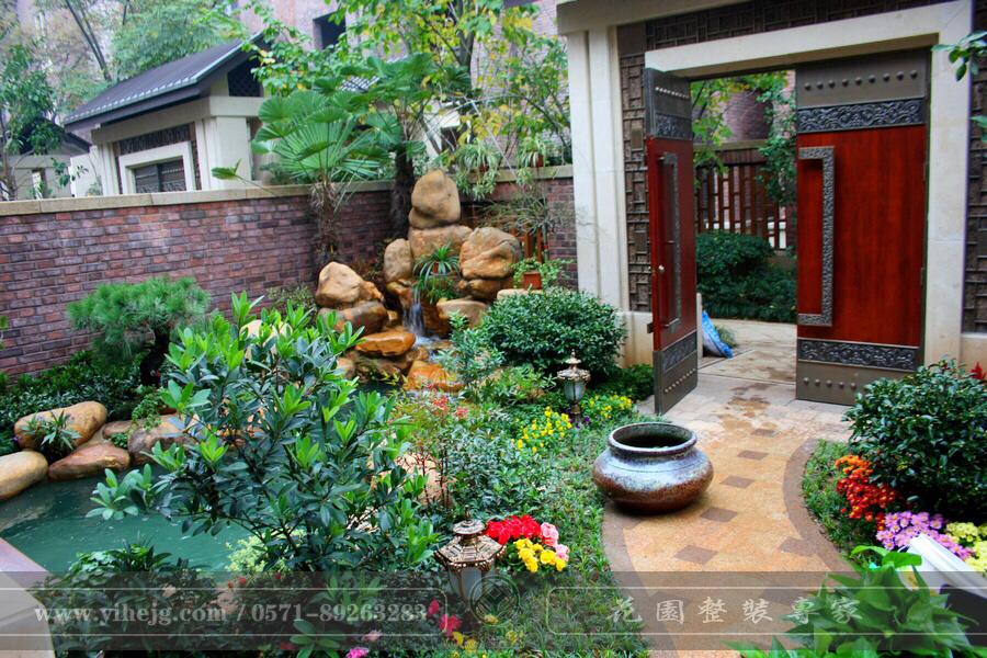 和家园别墅花园景观设计 私家小花园景观施工 庭院假山水池设计施工